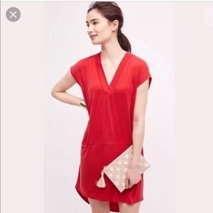 Dolan for Anthropologie High-Low Red Dress - S